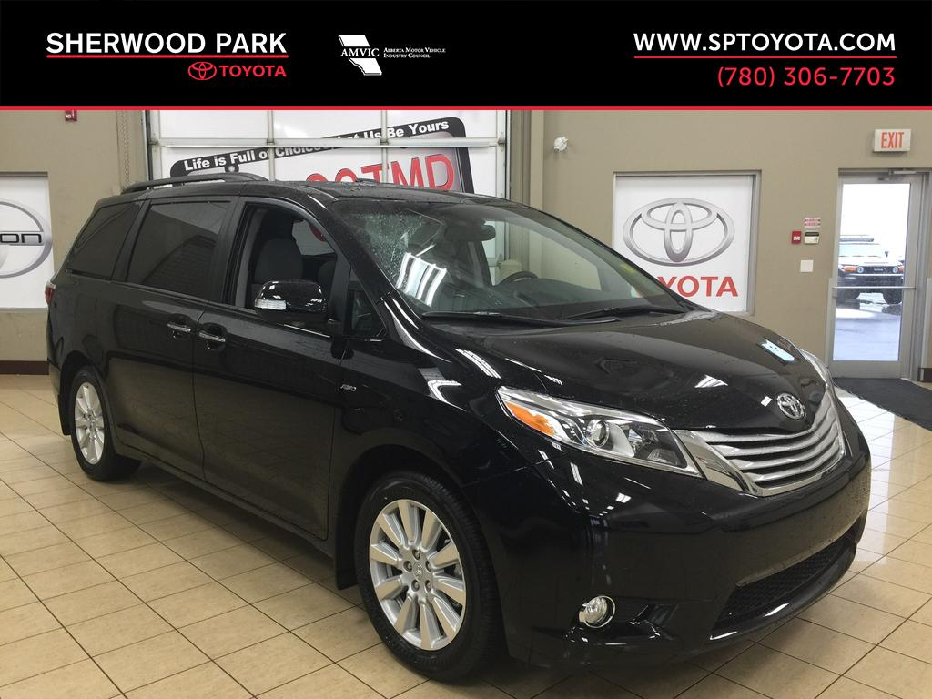 new 2017 toyota sienna limited awd 4 door mini van passenger in sherwood park si78145. Black Bedroom Furniture Sets. Home Design Ideas